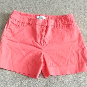 Coral shorts WHBM size 6